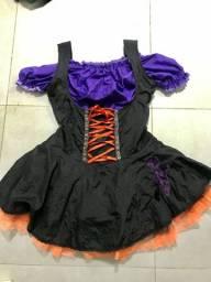 Vestido de bruxa adulto