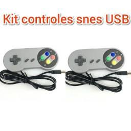 Kit controles USB modelo super Nintendo snes