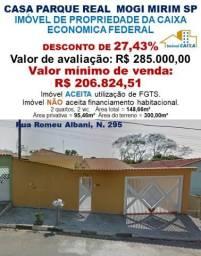 CASA PARQUE REAL - MOGI MIRIM SP (DESCONTO DE 27,43%)
