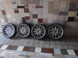 Roda 20 pneu novo 4*100