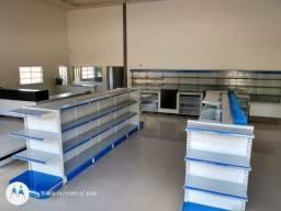 Gondolas , prateleiras, estantes para lojas em geral
