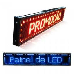 Painel Digital Led Letreiro Luminoso 100X20 de Propaganda Configurável