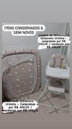 Cercado e cadeira de alimentação da Galzerano