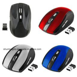 Mouse Wireless Sem Fio 2.4ghz Usb Alcance 10m Notebook E Pc