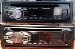 Frente, somente a frente de aparelhos de CD Pioneer (entrada USB, Auxiliar, rádio AM/FM)