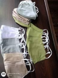 Oportunidade Mascaras Tecido algodão, pacote com 100pçs só R$80,00