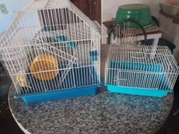 gaiola de hamster completa e uma de passeio
