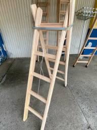 Escada Madeira Eucalipto 5 Degrau Oferta ?