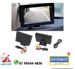 Tela Veicular Monitor 4.3 Vídeo Lcd Para Camera Ré só zap