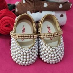 Sapatinho Infantil Personalizado, Ninas Baby Luxo N15
