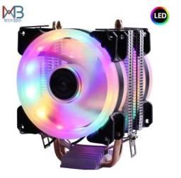 Cpu Cooler 2 Fans RGB Universal amd/intel