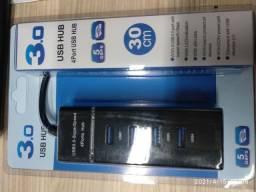 Hub USB 4 portas 3.0. 30cm