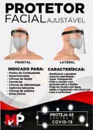 Protetor Facial ajustável Cristal Covid 19