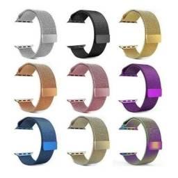 Pulseira Milanese Aço Compatível Smartwatch 38/40mm 42/44mm