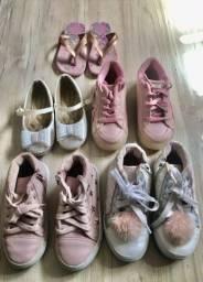 Calçados menina 5 pares