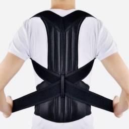 Colete Cinta Reforçada com Corretor de Postura Coluna Lombar Forte Peso(a104)