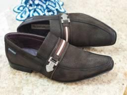 Sapato Rafarillo Couro Nobuck 40/41 Luxo. Zerado. Parcelo Visa/Master/ELO