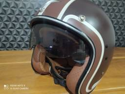 Capacete Zeus 380F Retro Matt Dark Brown