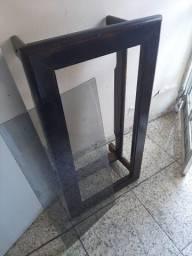 Rack e mesa de centro madeira cerejeira