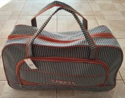 Bolsa grande com alça fixa e alça ajustável
