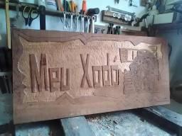 Placas fachada em madeira