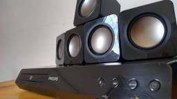 Home Theater Philips 5.1 900w RMS com Subwoofer