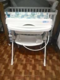 Banheira de bebê Burigotto com suporte e trocador - Splash Peixinhos 20L