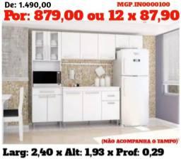 Armario de Cozinha- Cozinha Compactda com Balcão-Gourmet-Area de Lazer-Saldão