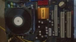 Placa-mãe asrock socket fm2 am2 e 775 DDR2 e DDR3