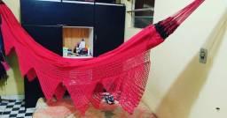 Rede de crochê com varanda