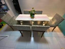 Mesa de Jantar 6 lugares + cadeiras - Jacauna
