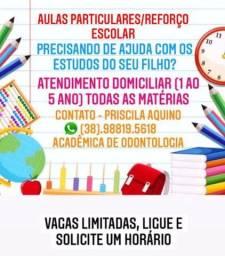Título do anúncio: Aulas particulares/Reforço escolar
