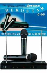 Kit 2 Microfones, para Igrejas, Mercados, A Pronta Entrega