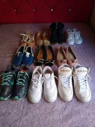 Lote de calçados variados para revenda