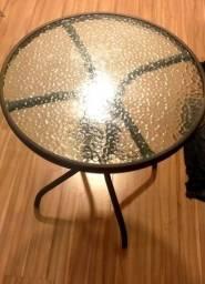 Vendo mesa de vidro Redonda. Valor:100 reais
