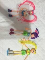 3 bonecas articuladas