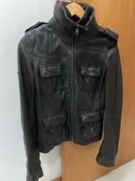 Jaqueta de couro preta