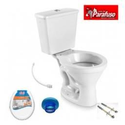 Vaso sanitário Cx Acoplada + Assento E Acessórios Instalação