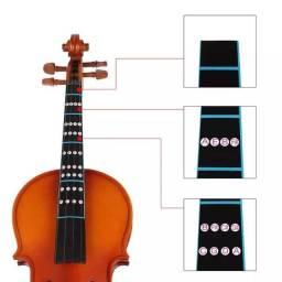 Escala de posição dedos para aprender notas violino
