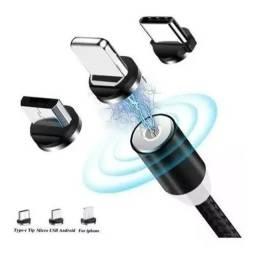 Cabo Magnético Carregador Android pra todos tipo de celular  <br>