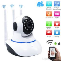 Camera wifi ip Hiseeu 1080 P 3 antenas sem fio acesso remoto pelo celular