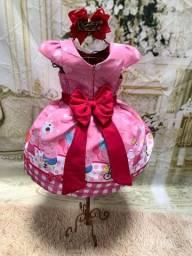 Vestido temático Peppa Pig