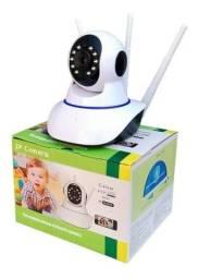 Câmera Ip 3 Antenas Wifi Wireless 3ª Geração Visão Noturna