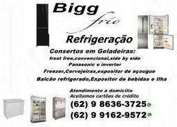 {{Bigg frio Refrigeração[[Consertos\Geladeiras\Freezer\Cervejeiras\Balcão e outros