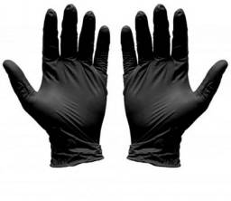 Luva Nitrilica Black Preta Profissional 100 unidades. Sem Pó P<br><br><br>