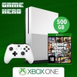 Xbox One S 500gb com GTA 5 4K HDR (novo,loja)