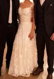 Vestido de casamento dos sonhos - todo rendado