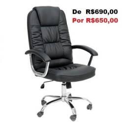 Cadeira Giratória Presidente - Promoção - Nova
