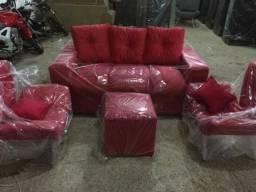 Kit completo.Sofa,poltronas e puff