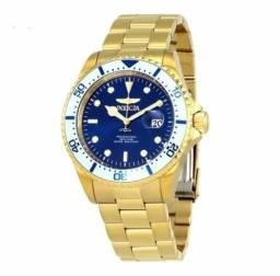Relógio Masculino De Pulseira De Aço Dourado, Invicta Pro Diver 23382, 100% Original!